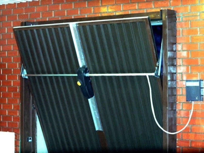 Автоматические гаражные ворота своими руками чертежи фото