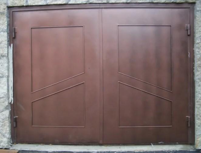 Распашные железные ворота на гараж продажа металлических гаражей в стерлитамаке